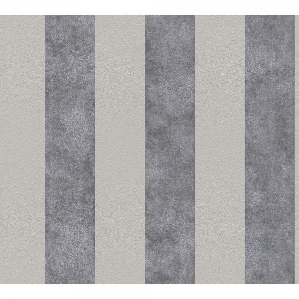 A.S. Creation Trendwall Vlies Tapete 372711 Classic Landhaus Streifen beige grau schwarz