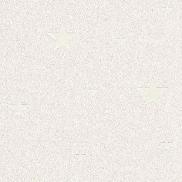A.S. Creation Day & Night Vlies Tapete 324404 Sterne beige fluoreszierend