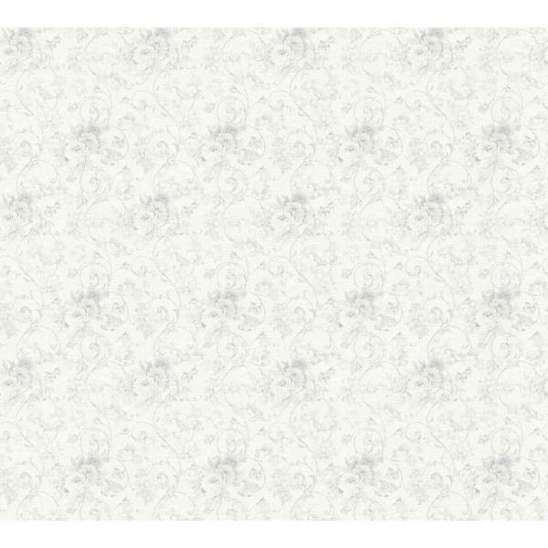 A.S. Creation Unique Vlies Tapete 360861 Floral weiß grau metallic
