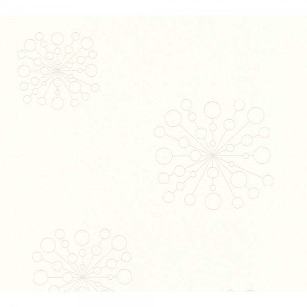 A.S. Creation Trendwall Vlies Tapete 367843 Natur Grafik Modern metallic weiß
