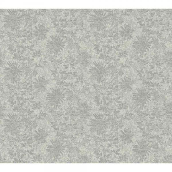 A S Creation Unique Vlies Tapete 360844 Floral Grau Taupe Silber