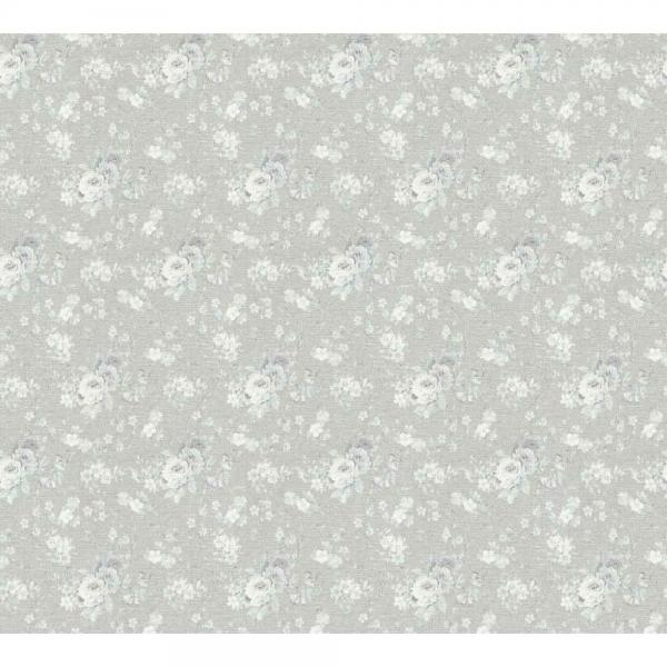 A.S. Creation Unique Vlies Tapete 360863 Floral grau weiß silber metallic