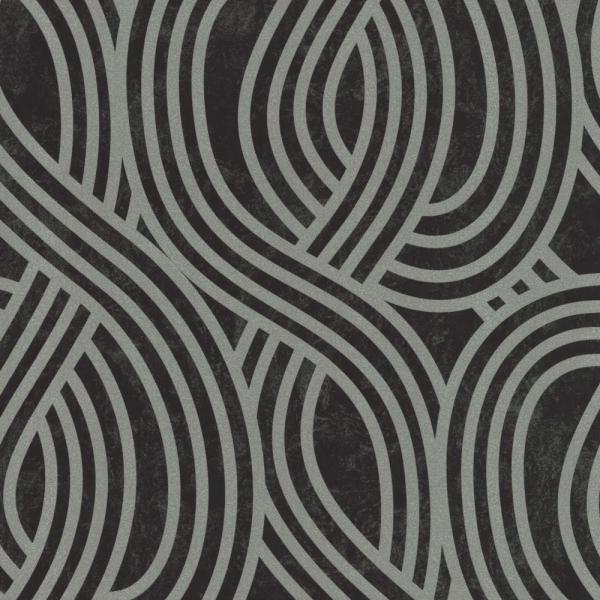 P+S Carat Vlies Tapete 13345-30 Design schwarz silber metallic ...