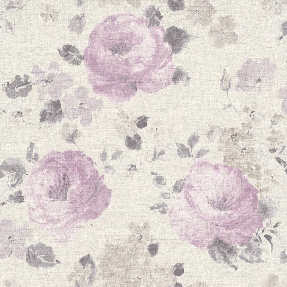 Rasch Kindertapeten Vlies : Rasch Florentine Vlies Tapete 448832 Floral flieder Florentine