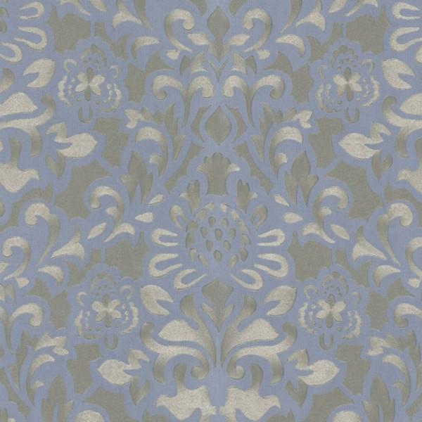 Marburg Tapeten Opulence : Marburg Opulence 2 Vlies Tapete 56003 Barock blau silber metallic