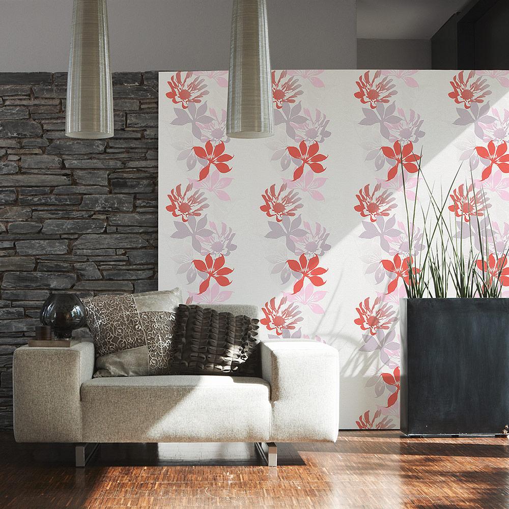 Esprit Home Vlies Tapete Lakeside 958801 95880-1 beige rot weiß ...