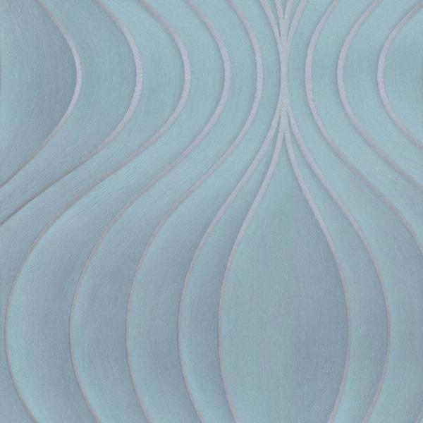 Marburg Colani Evolution Vlies Tapete 56327 Design Turkis Silber