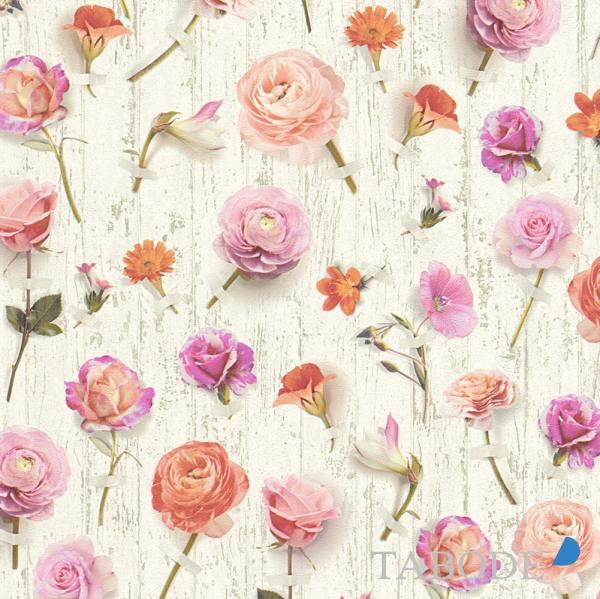 A.S. Creation Urban Flowers Vlies Tapete 327233 Floral weiß rosa lila
