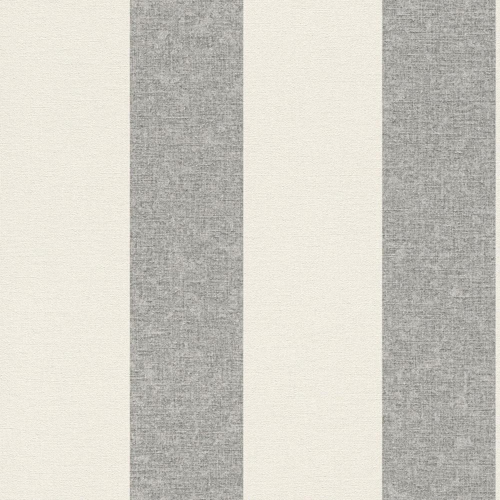 Rasch florentine vlies tapete 448764 streifen weiß grau ...
