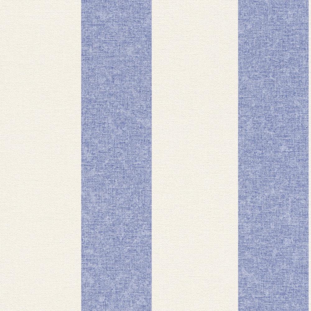 Rasch Florentine Vlies Tapete 448719 Streifen blau ...