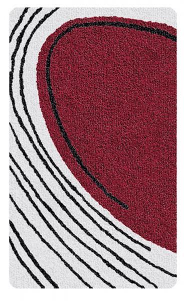 Kleine Wolke Bad Teppich Hawaii 4023468539, 55 x 65 cm, granat