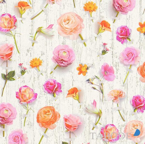 A.S. Creation Urban Flowers Vlies Tapete 327231 Floral bunt weiß