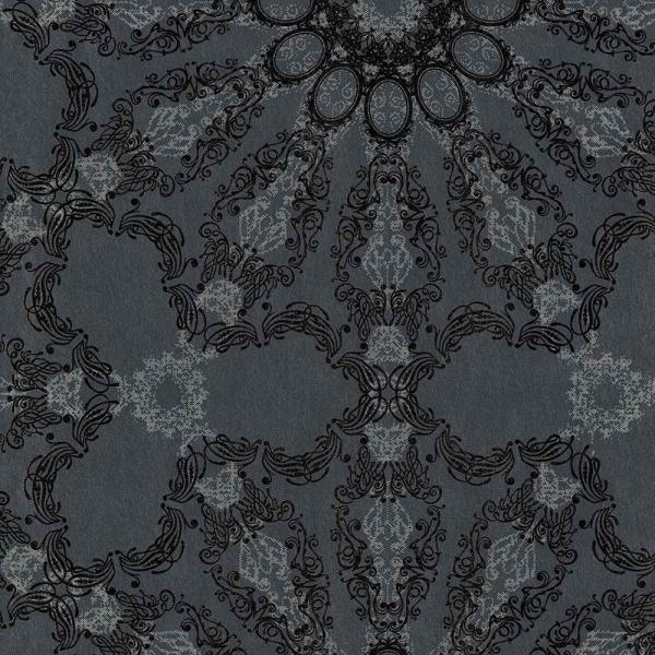 P+S Deluxe By Guido Maria Kretschmer Vlies Tapete 41007 30 Ornament  Anthrazit Schwarz