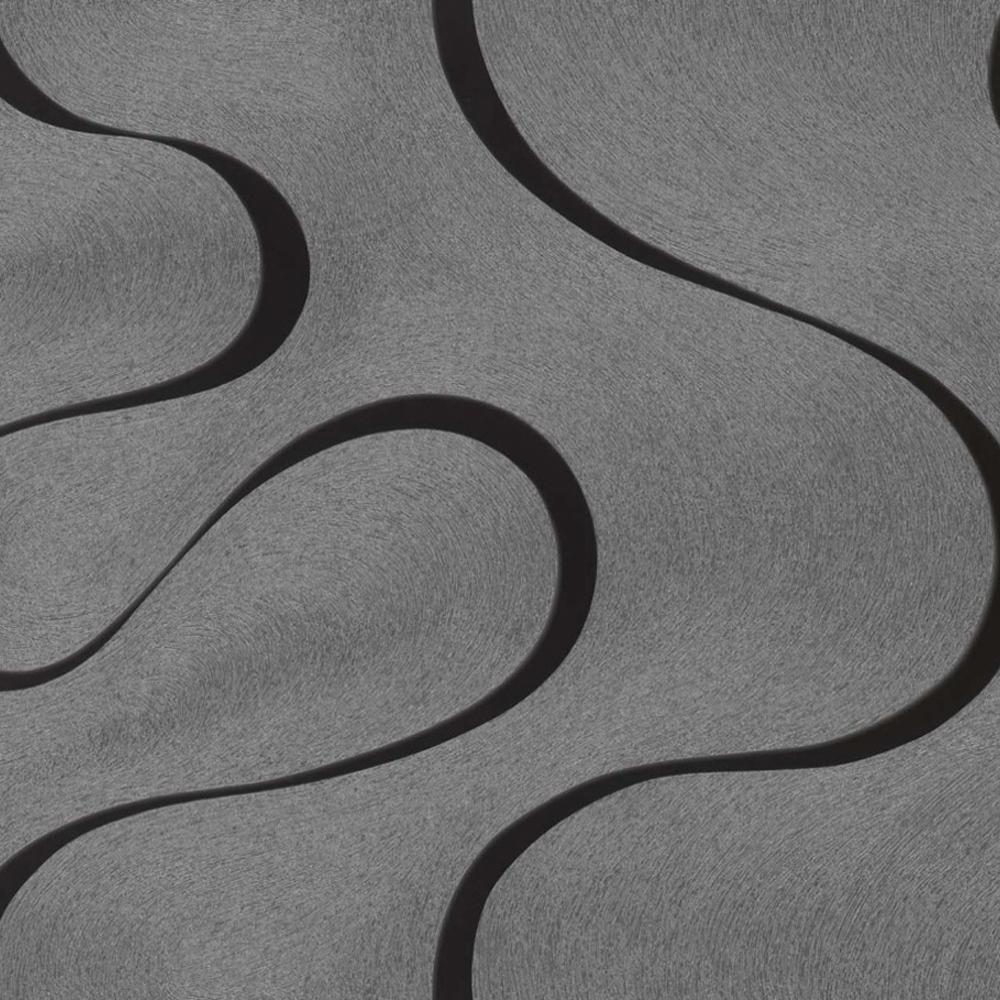 tapete wohnzimmer grau:Marburg Colani Visions Vlies Tapete 53340 Design grau silber schwarz