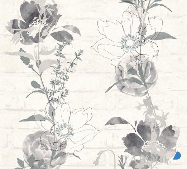 A.S. Creation Urban Flowers Papier Tapete 328003 Floral grau schwarz weiß