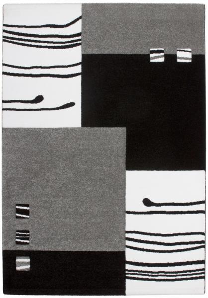Obsession Teppich California Design 103, 160 x 230 cm, schwarz silber