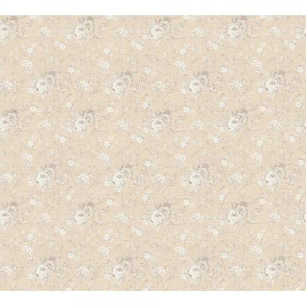 A.S. Creation Unique Vlies Tapete 360864 Floral rosa beige weiß metallic