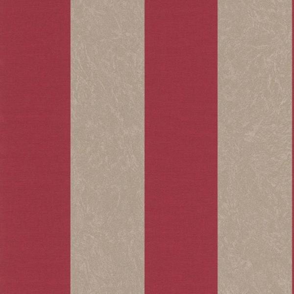 Rasch belleville vlies tapete 441949 streifen rot grau for Tapete streifen rot