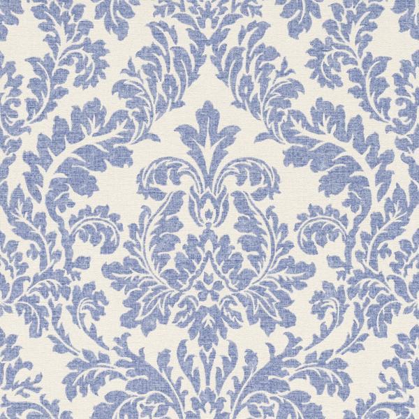 Rasch Florentine Vlies Tapete 449013 Barock weiß blau | Barock ...