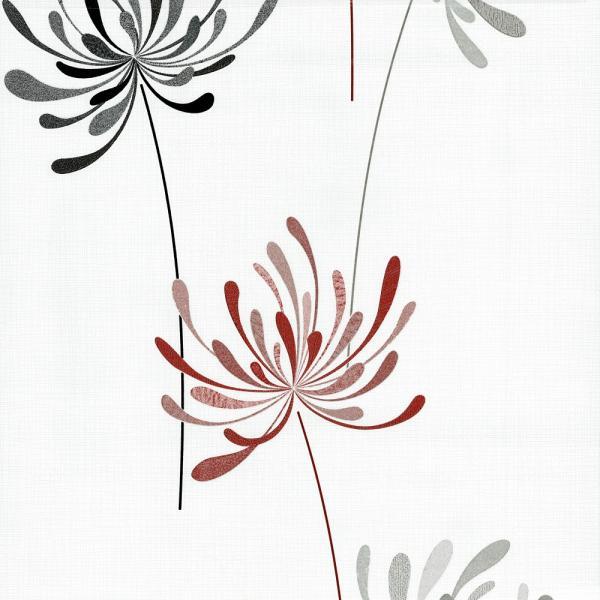 P S Novara Ii Vlies Tapete 13464 10 Floral Weiß Grau Rot Floral