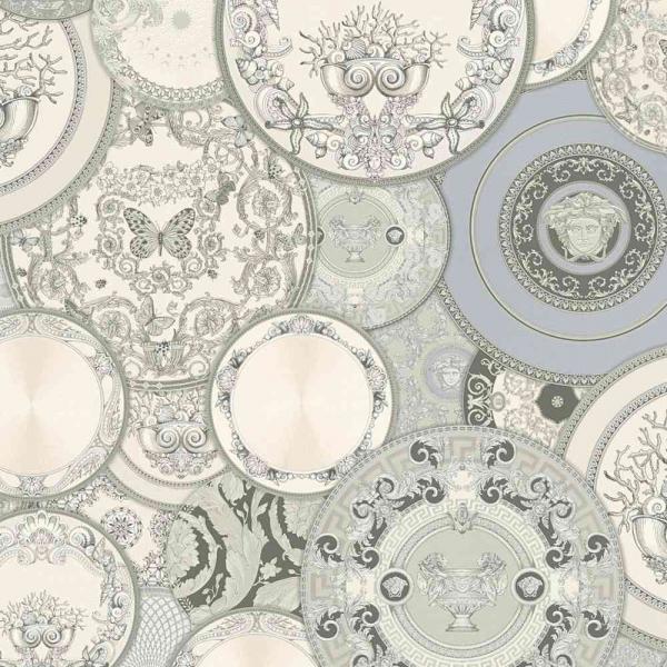 A.S. Creation Versace 3 Vlies Tapete 349013 Design Grau Metallic Weiß