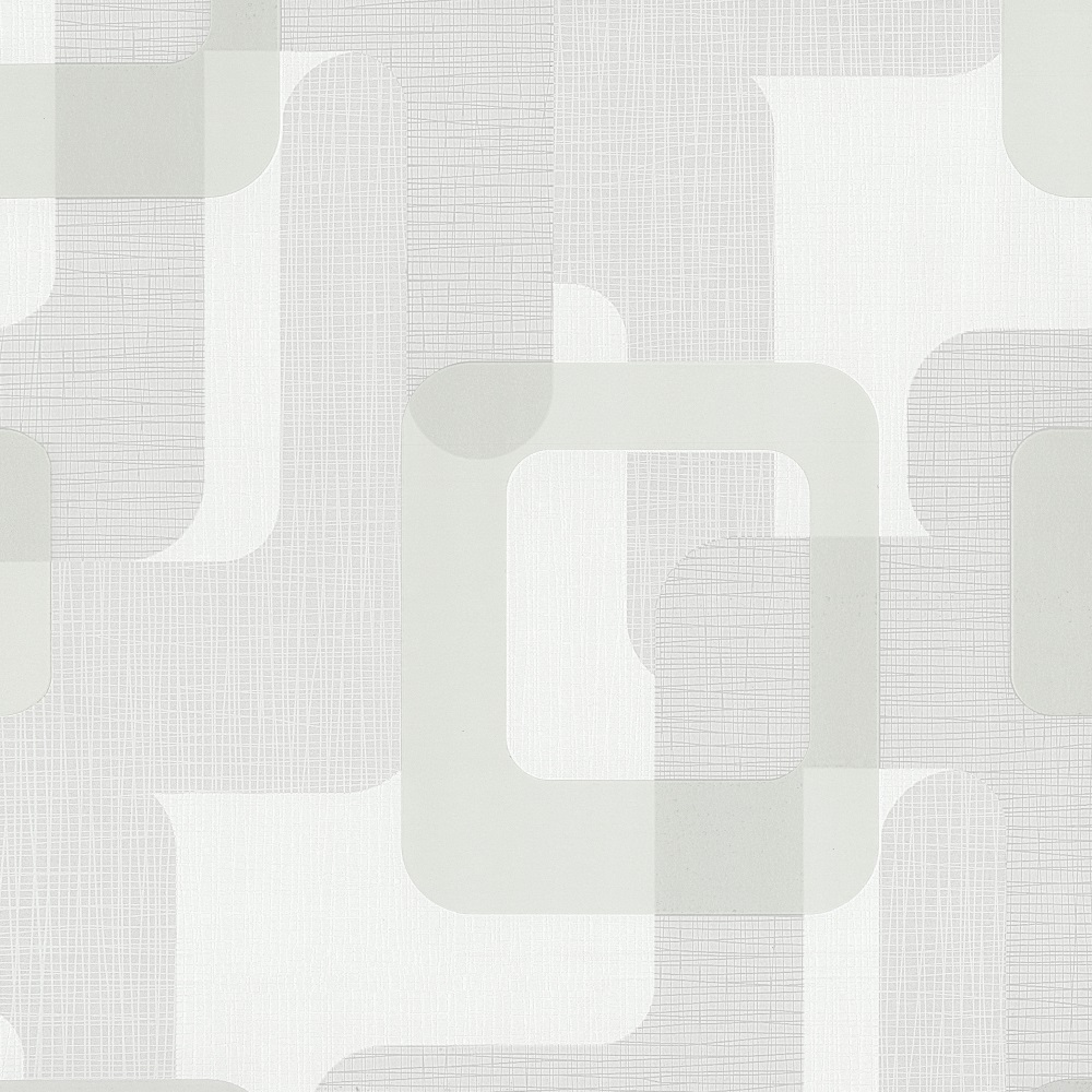 P S Novara Ii Vlies Tapete 13460 10 Grafik Retro Grau Weiss
