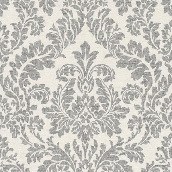Rasch Florentine Vlies Tapete 449099 Barock weiß grau | Barock ...