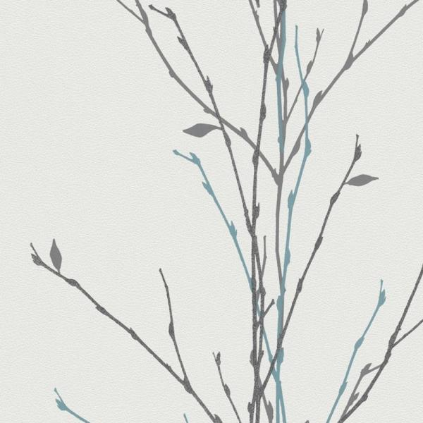 marburg gina vlies tapete 57714 floral wei grau silber petrol floral stil themen. Black Bedroom Furniture Sets. Home Design Ideas