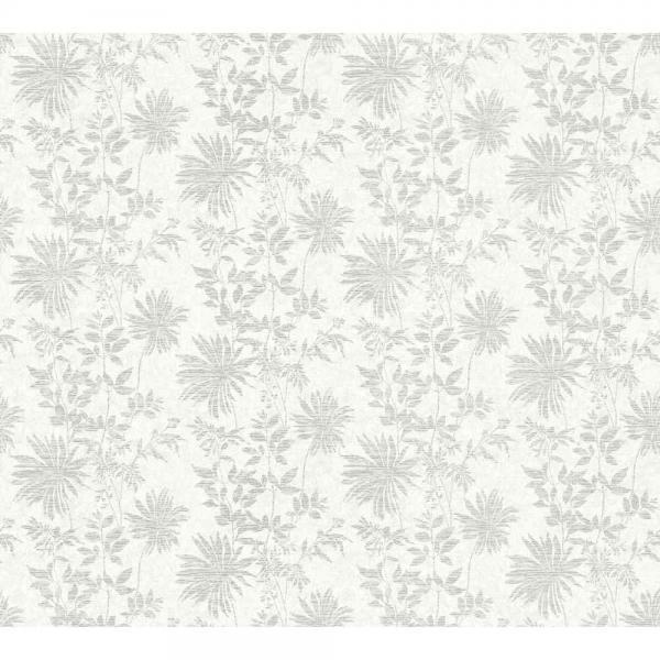A.S. Creation Unique Vlies Tapete 360842 Floral weiß silber metallic