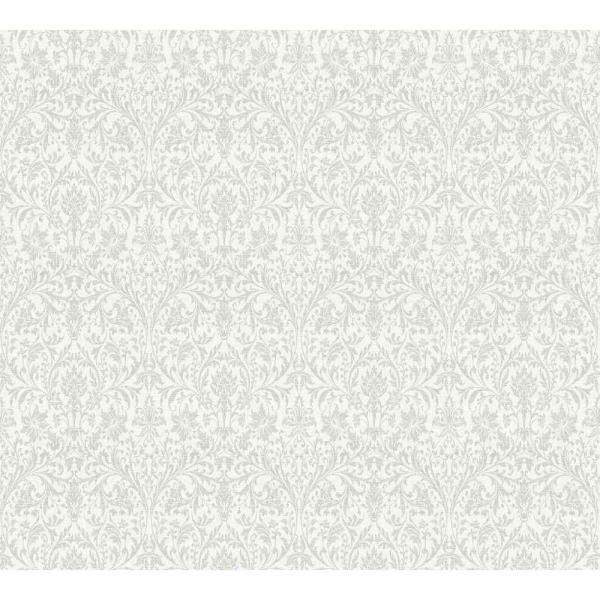 A.S. Creation Unique Vlies Tapete 360871 Ornament weiß grau metallic