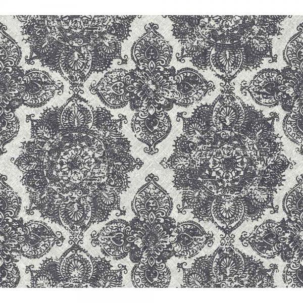 A.S. Creation Boho Love Vlies Tapete 364633 Ornament metallic grau schwarz