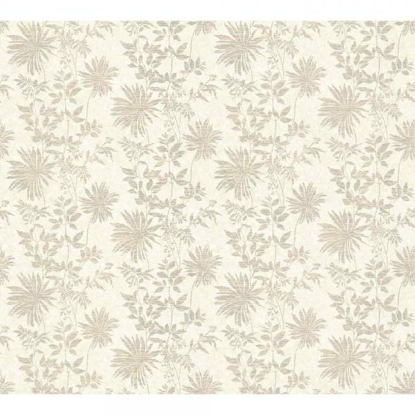 A.S. Creation Unique Vlies Tapete 360841 Floral beige silber metallic
