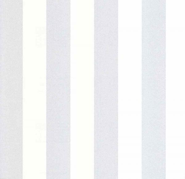 P+S Lacantara Vlies Tapete 13700-30 Streifen weiß metallic silber