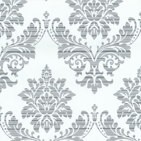 P+S Glamour by Catherine Lansfield Vlies Tapete 13373-24 Barock Ornamente creme silber