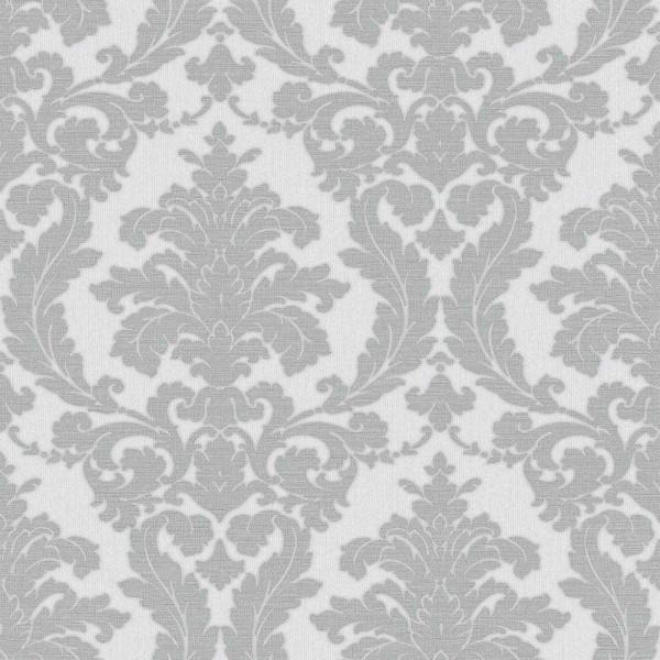 Essener Italian Classic Vlies Tapete 22912 Barock silber grau metallic
