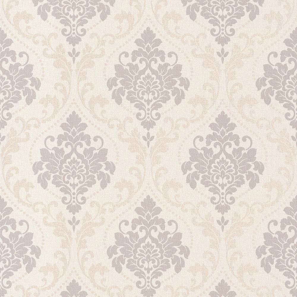 Tapete weiß beige  Rasch Gentle Elegance Vlies Tapete 725612 Barock weiß beige grau ...
