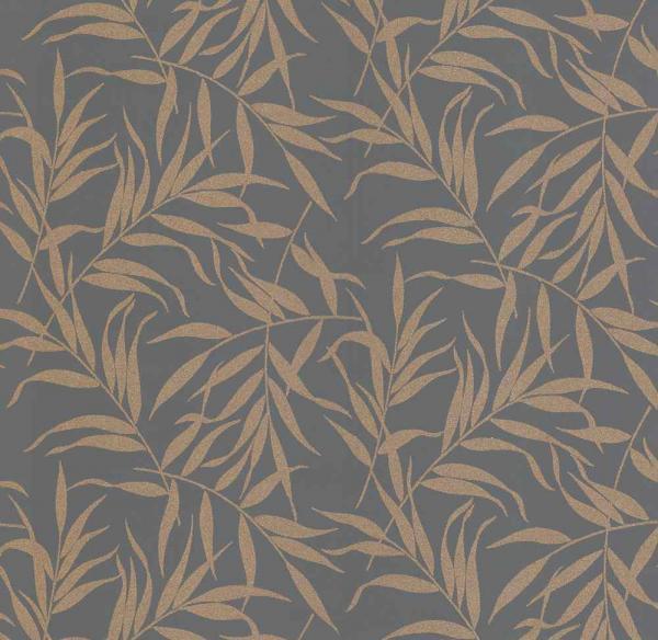 P+S Lacantara Vlies Tapete 13703-20 Floral grau gold kupfer metallic