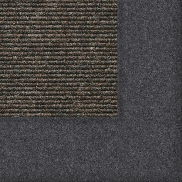 Tretford Interland, Teppich mit farblich passender Bordüre aus Filz Farbe 512 Schiefer
