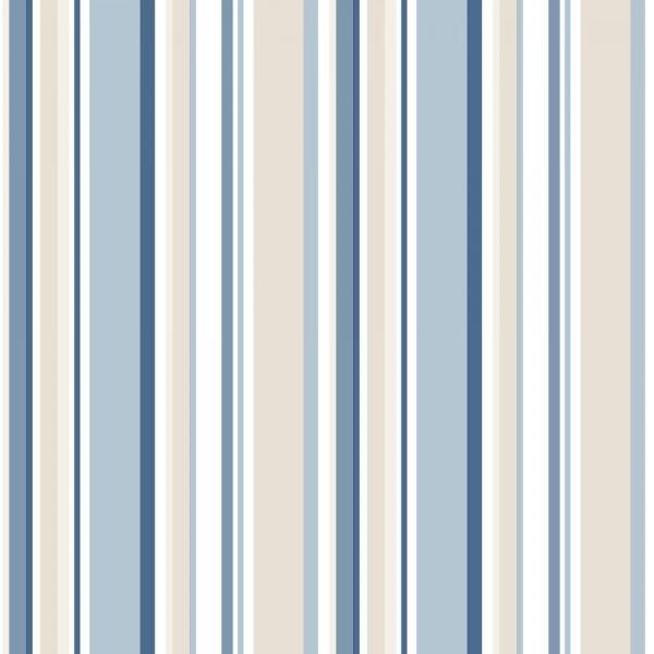 Essener Simple Stripes 3 Papier Tapete SY33963 Streifen Weiß blau beige
