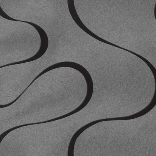 Marburg Colani Visions Vlies Tapete 53340 Design Grau Silber Schwarz
