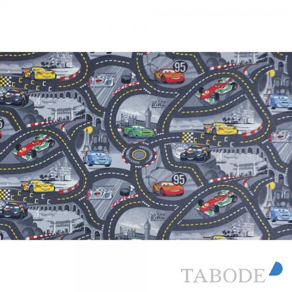 TABODE Spielteppich World of Cars grau, in verschiedenen Größen