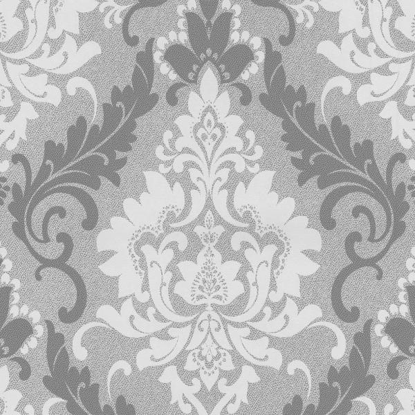 P+S Casual Chic Vlies Tapete 13351 30 Barock Grau Silber Weiß