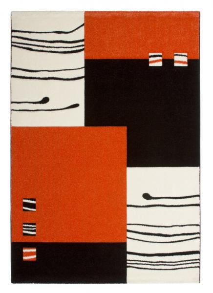 Obsession Teppich California Design 103, 160 x 230 cm, schwarz orange