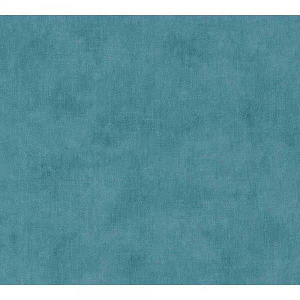 A.S. Creation Boho Love Vlies Tapete 364575 Uni blau grün