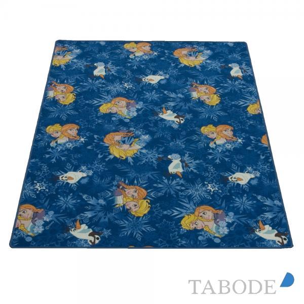 TABODE Spielteppich Frozen - Die Eiskönigin blau ca. 140 x 200 cm