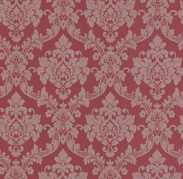P+S Lacantara Vlies Tapete 13701-40 Ornament rot grau silber metallic