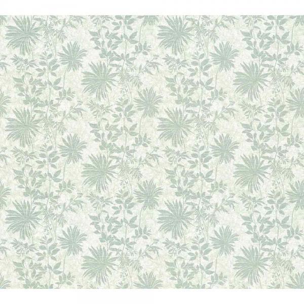 A.S. Creation Unique Vlies Tapete 360843 Floral weiß grau metallic