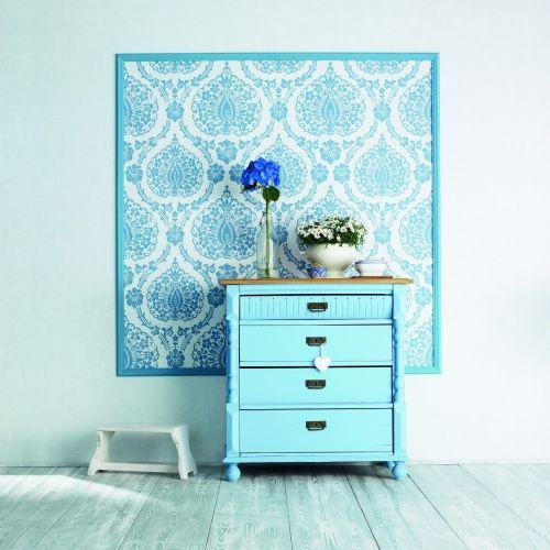 marburg scandinavian vintage vlies tapete 51652 barock blau wei. Black Bedroom Furniture Sets. Home Design Ideas